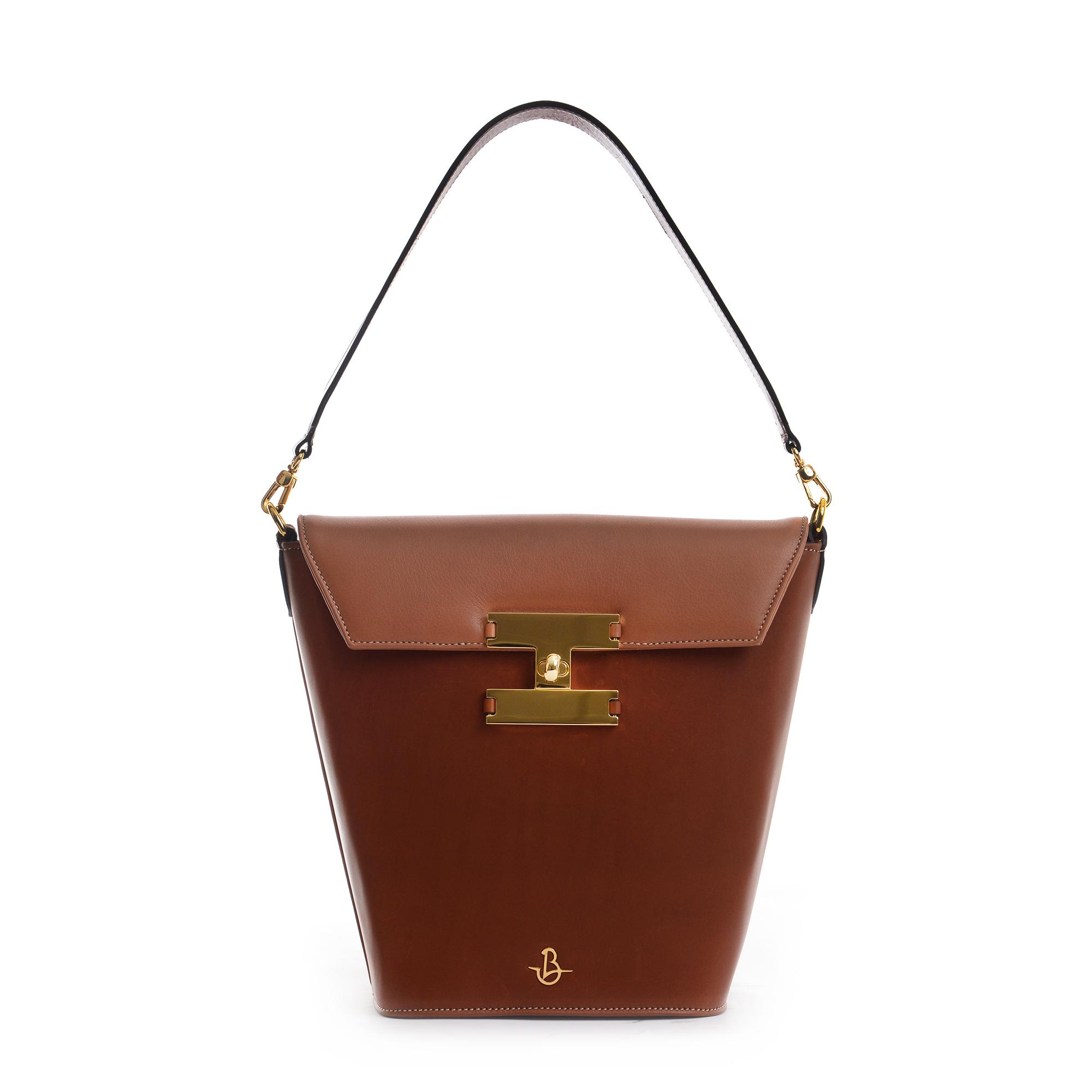 Audrey 231 - Woman Leather handbag tan