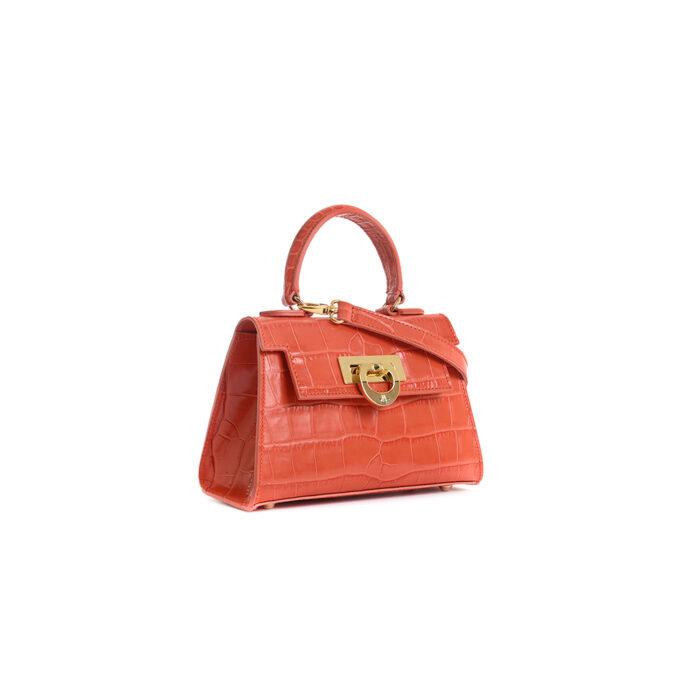 Leather mini bauletto matisse lux orange - LICIA 241