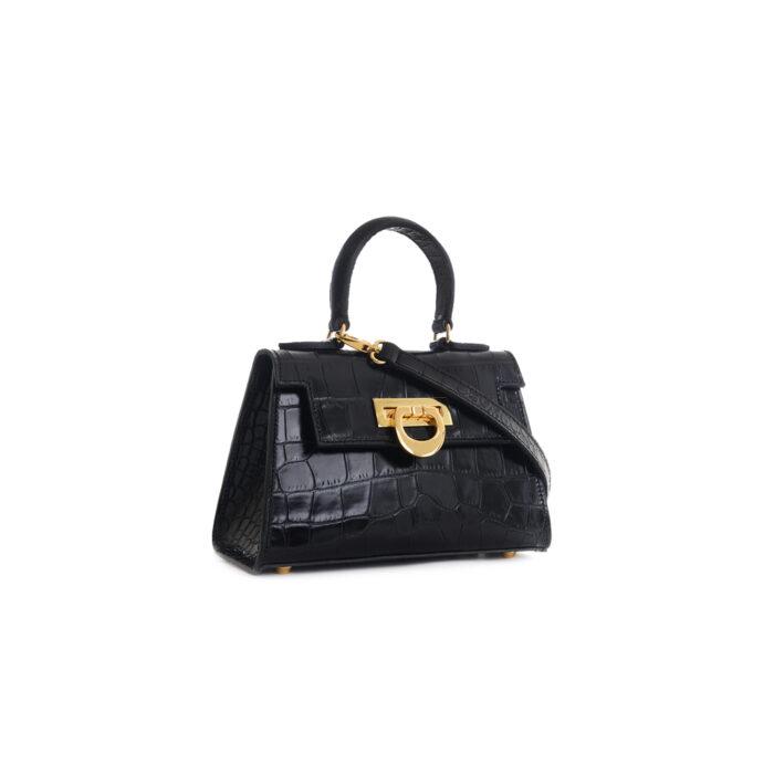 Leather mini bauletto matisse lux black - LICIA 241