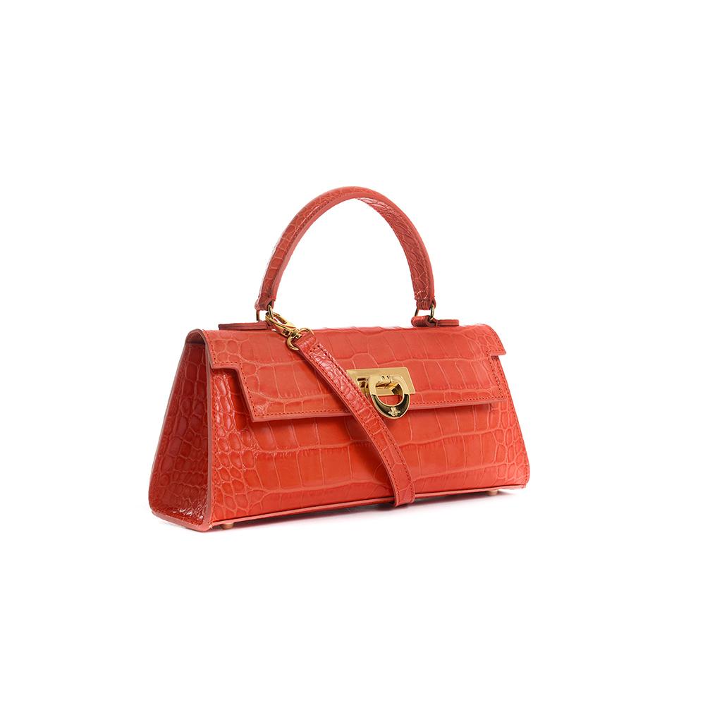 Cary 242 - Woman Leather handbag matisse lux orange