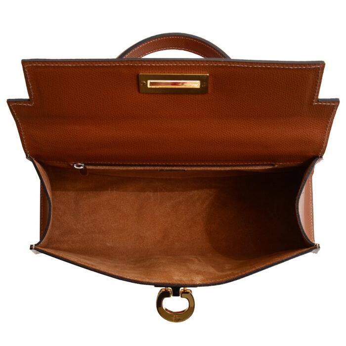 Cary 242 - Woman Leather handbag palmellato tan