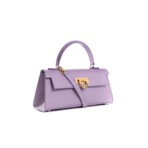 Cary 242 - Woman Leather handbag palmellato lavanda