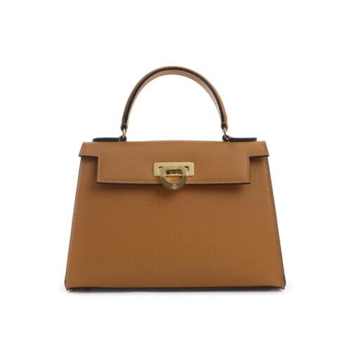 Leather handbag made in Italy Carbotti - Elena 243 honey