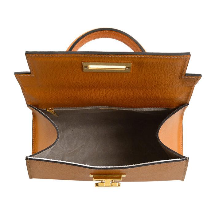 Leather handbag made in Italy Carbotti - Greta 245 palmellato honey